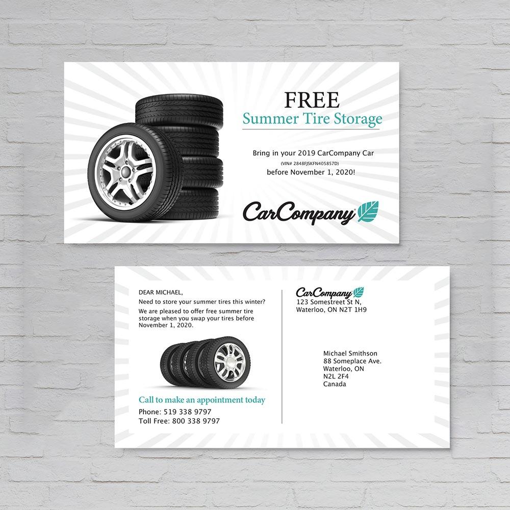 Car Company Postcard