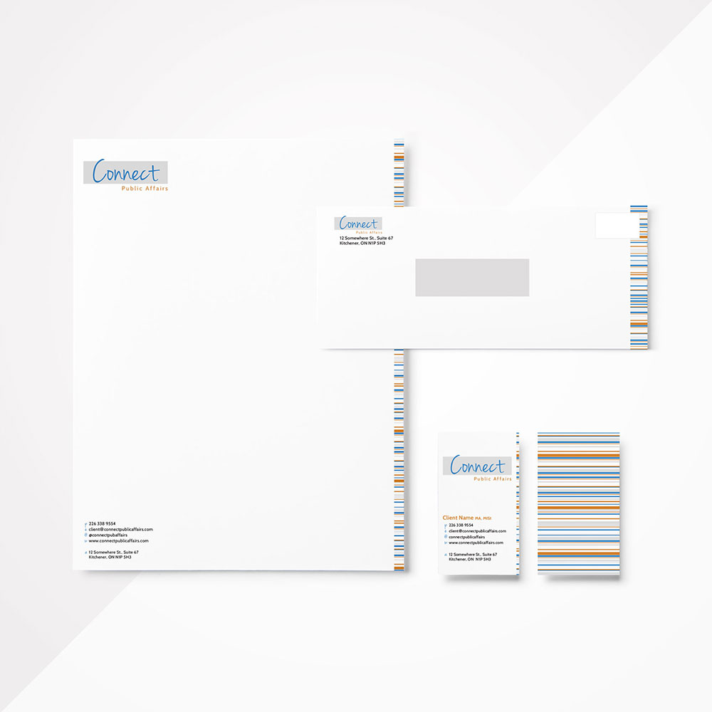 Connect Public Affairs Stationery